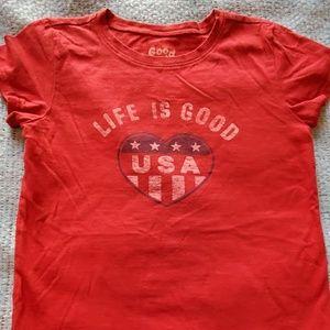 Life is Good USA t-shirt